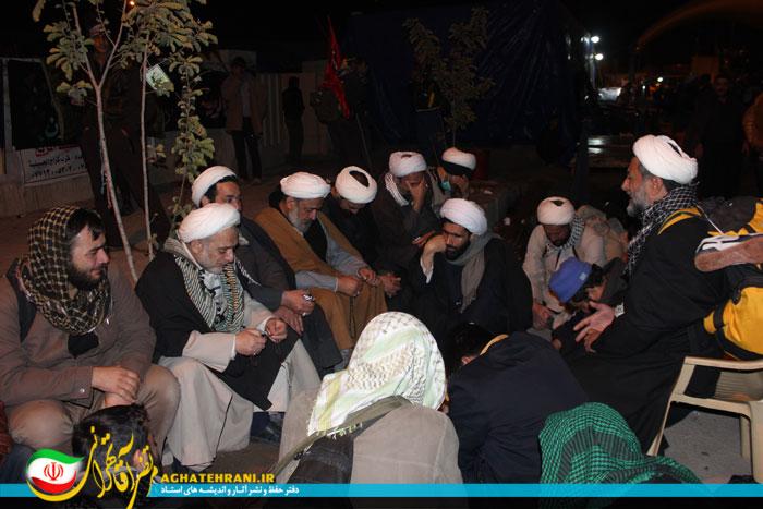 حجت الاسلام آقا تهرانی در پیاده روی اربعین