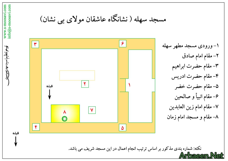 نقشه مسجد سهله